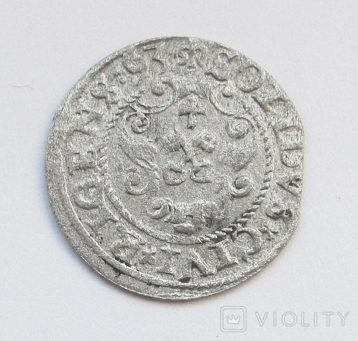Солид 1593г, Сигизмунд III , г. Рига, фото №3