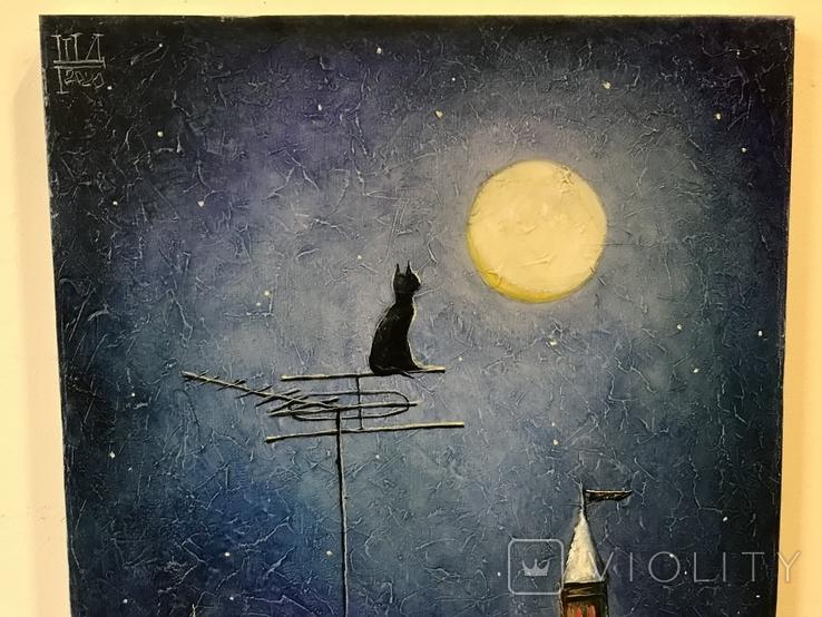 """Картина Шлыкова Д.Г.""""Кошка"""" х/м 50х40см.2020г., фото №5"""