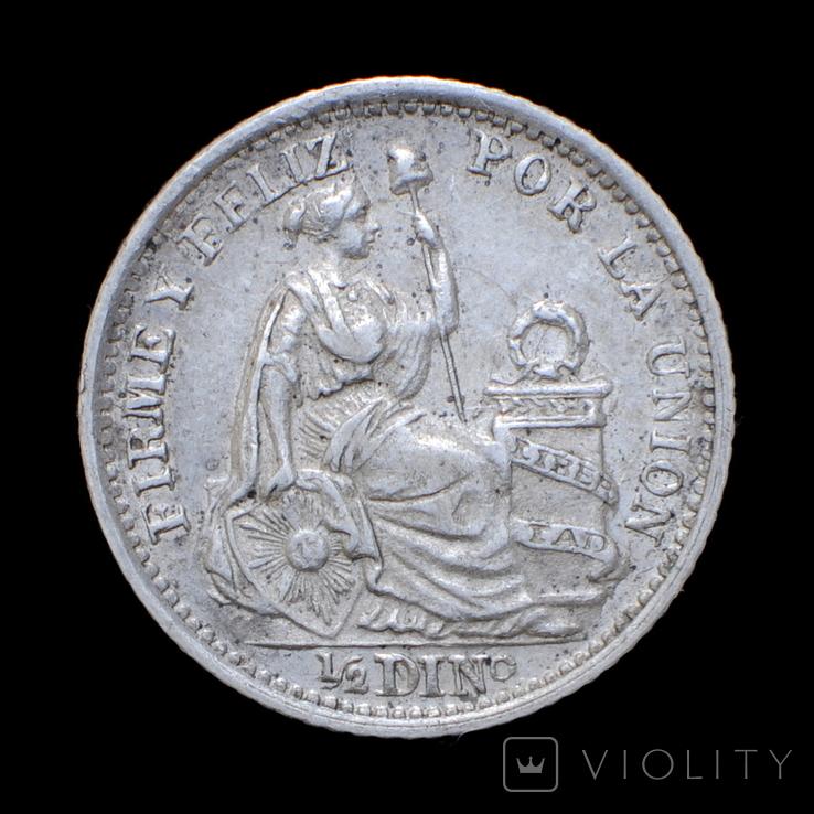 1/2 Динеро 1906, Перу