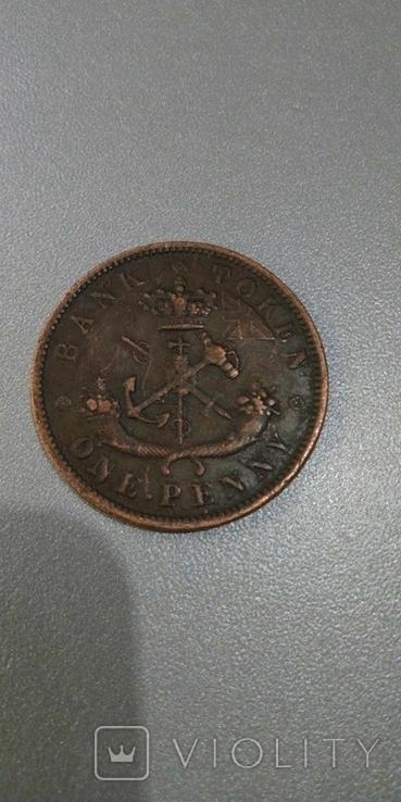 Канада 1 пенни 1850 год копия, фото №3