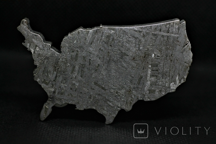 Залізний метеорит Aletai, карта США USA, 108,6 грам, із сертифікатом автентичності, фото №6