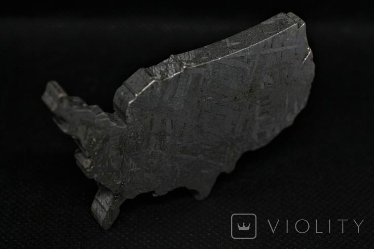 Залізний метеорит Aletai, карта США USA, 108,6 грам, із сертифікатом автентичності, фото №7