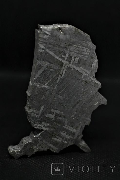 Залізний метеорит Aletai, карта США USA, 108,6 грам, із сертифікатом автентичності, фото №11