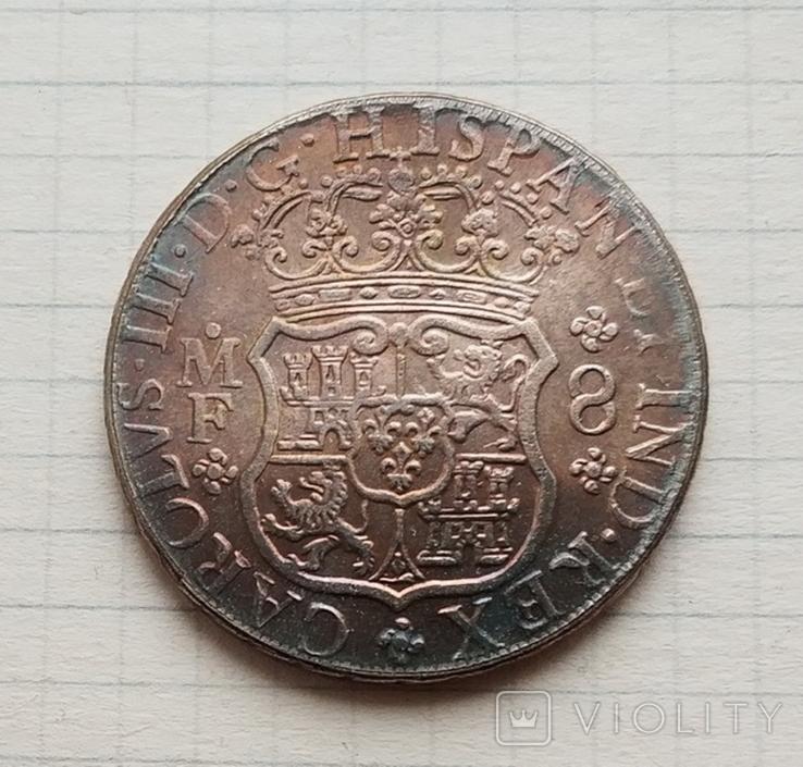 Мексика. 8 реалов 1762 г. Копия, фото №3