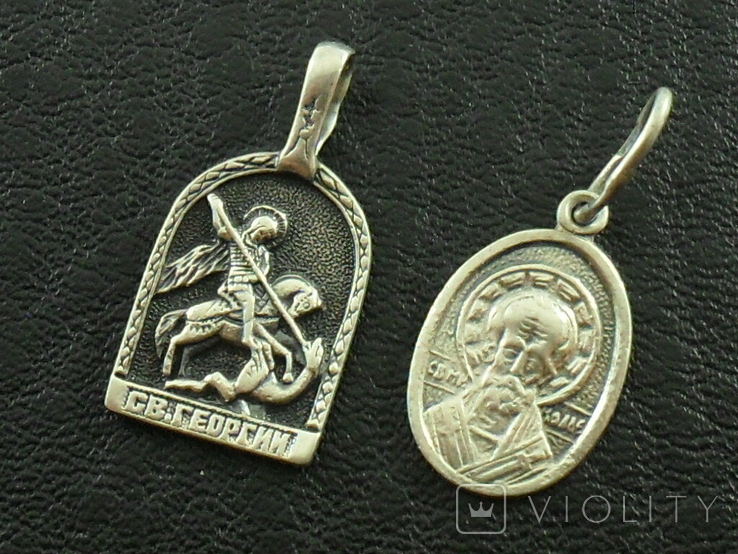 2 серебряные иконки., фото №2