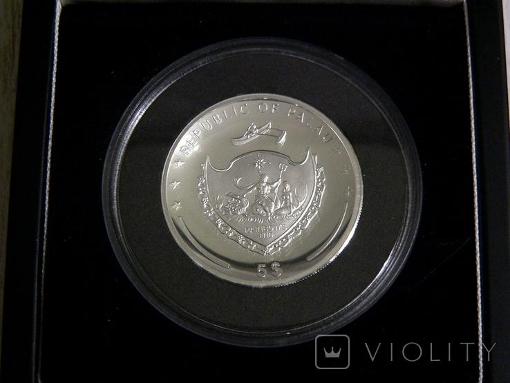 Год Петуха - Высокий Рельеф - серебро 999 позолота -  тираж 500 шт. РЕДКАЯ, фото №5