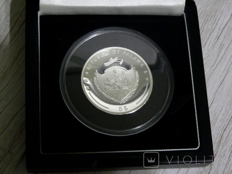 Год Петуха - Высокий Рельеф - серебро 999 позолота -  тираж 500 шт. РЕДКАЯ, фото №6