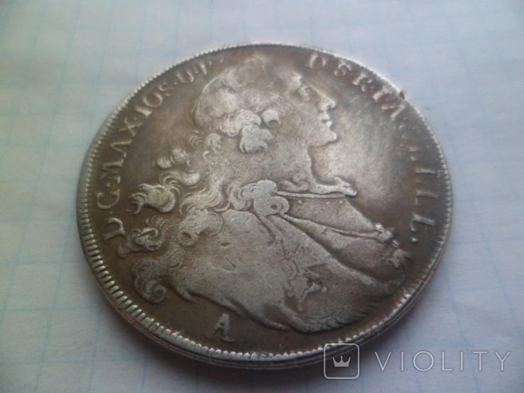 Талер 1763 рік копія, фото №3