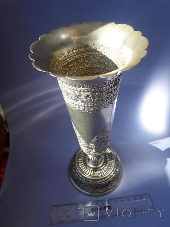 Ваза, серебро, 213 грамм, Индия, фото №3