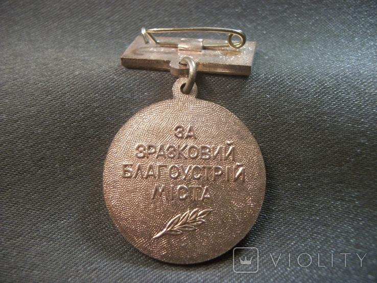 21Я1 Медаль. За образцовое благоустройство города Киева, УССР, Киев, КЮЗ, фото №5