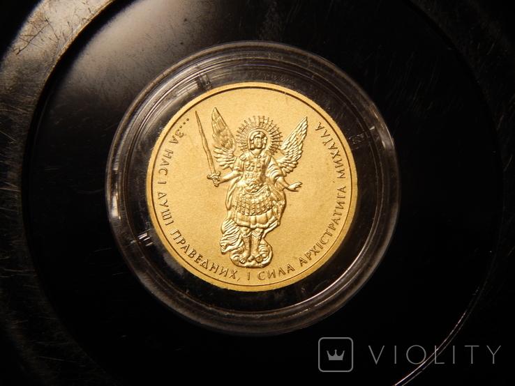 5 гривен Архистратиг Михаил 2013 года, золото 7,78 грамм, 999,9, фото №5