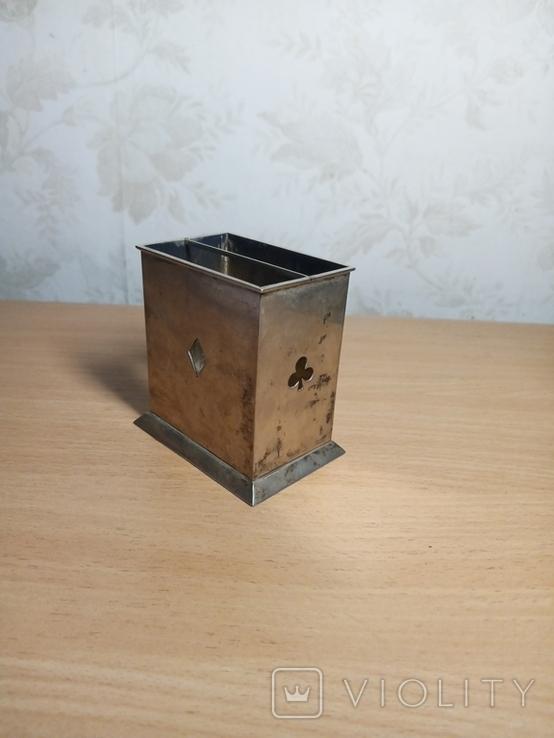 Коробка шкатулка під карти вага 144 грама, фото №2