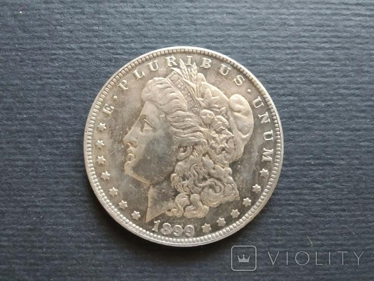 1 доллар США (Морган,1899г). Копия., фото №2