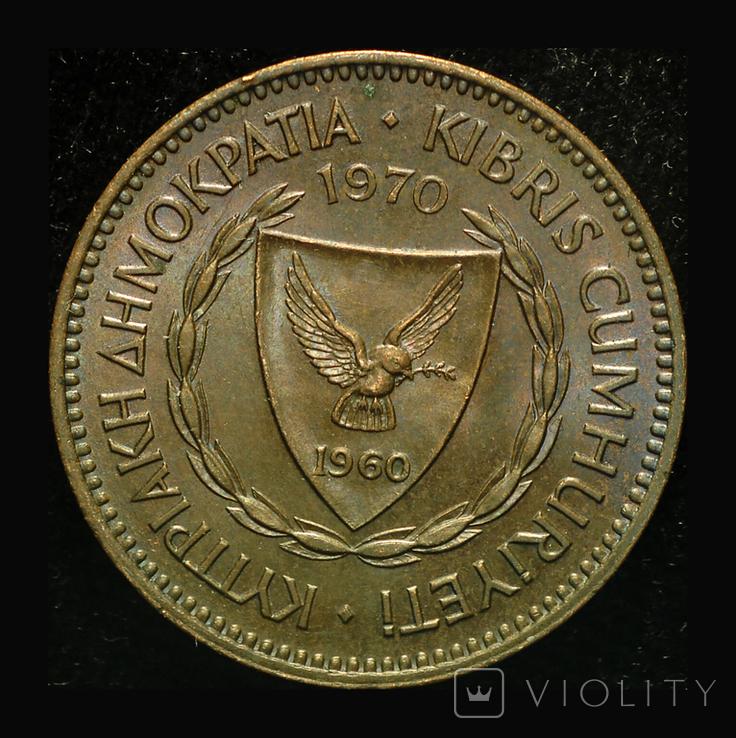 Кипр 5 милс 1970, фото №2