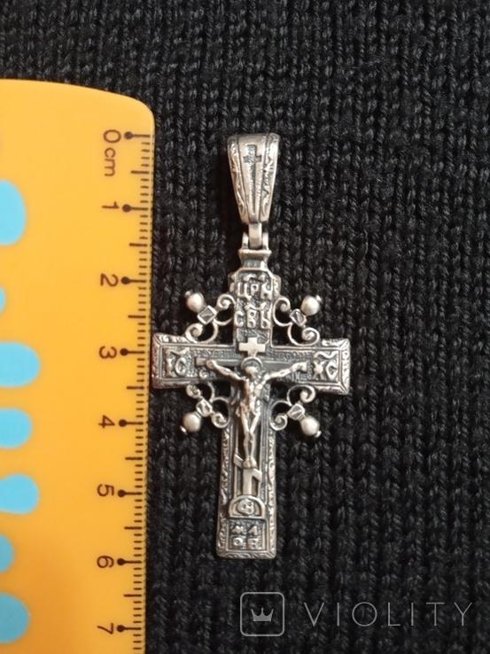 Нательный крест.Сербро., фото №2