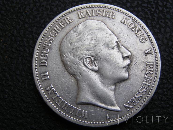 5 марок 1902 А Пруссия, фото №2