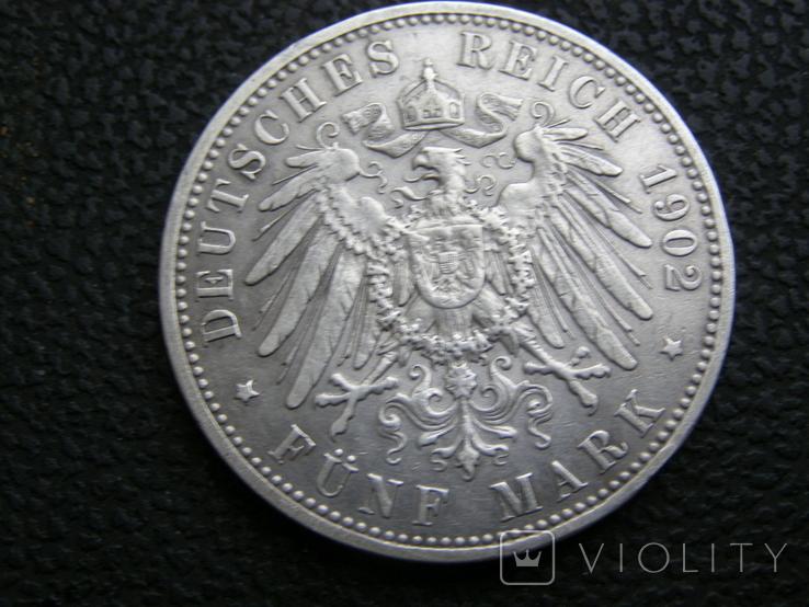 5 марок 1902 А Пруссия, фото №5