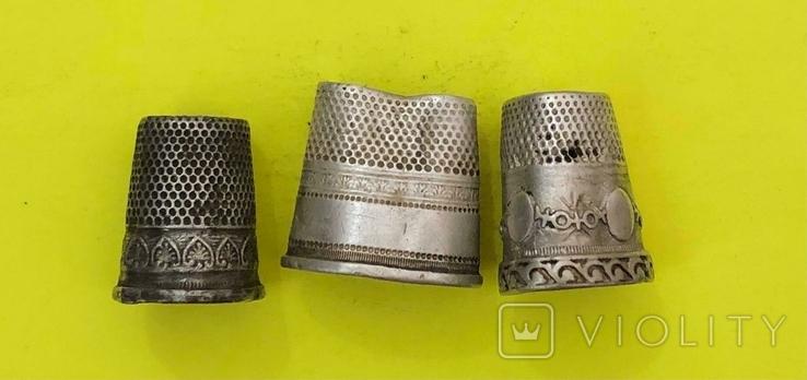 Наперстки Срібні з копа., фото №2