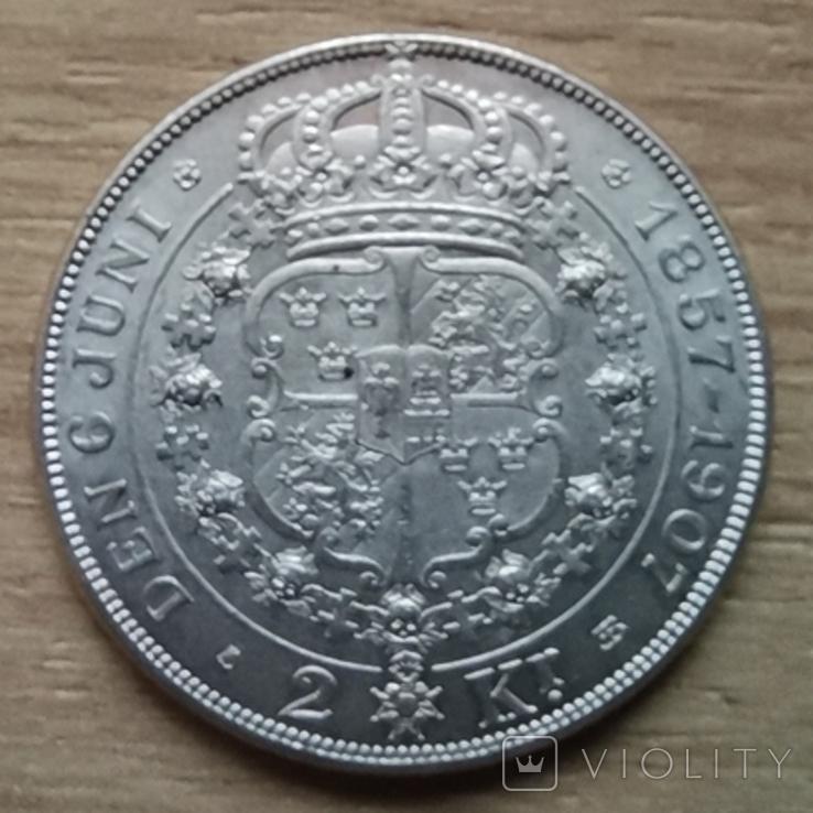2 крони 1907 р.Швеція, фото №3