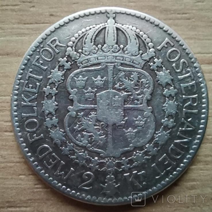 2 крон 1910р.Швеція, фото №3
