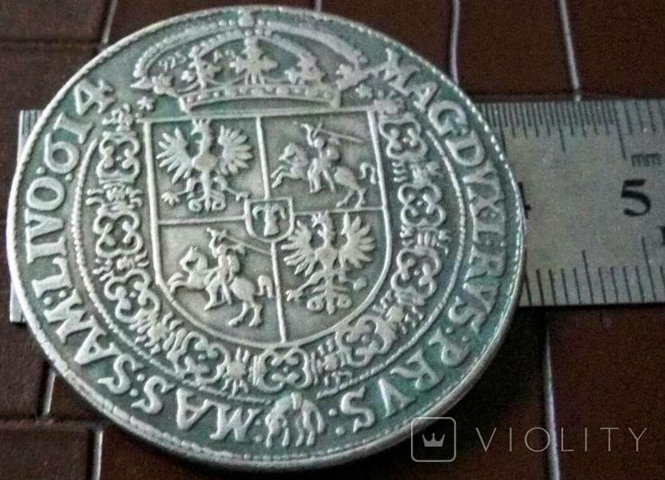 1 таляр Польща (1)614 р. (дуже високоякісна копія) не магнітна, фото №3