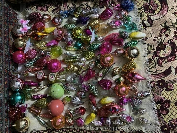 Ялинкові іграшки 150 шт елочные игрушки СССР, фото №3