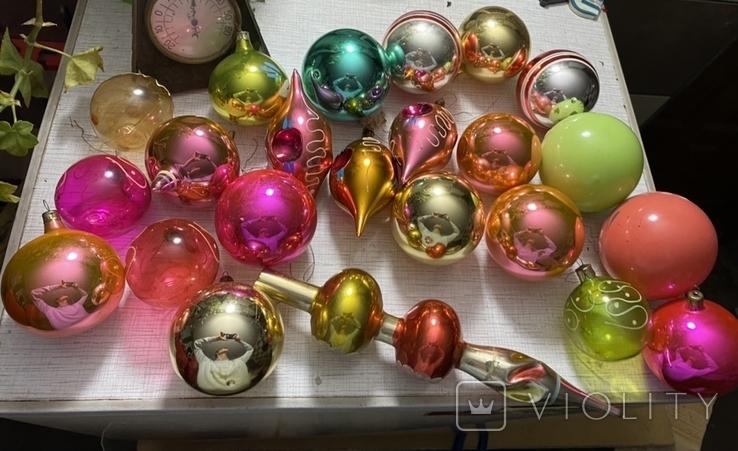 Ялинкові іграшки 150 шт елочные игрушки СССР, фото №10