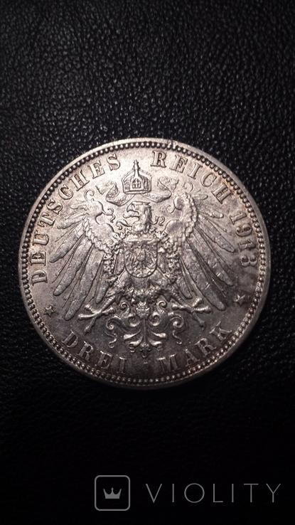 Вольный Гамбург . Три марки 1913г., фото №5