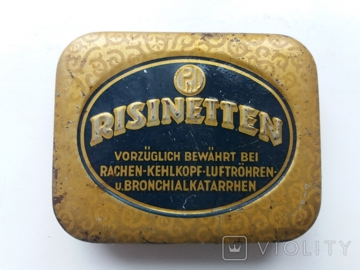 Коробочка от немецких таблеток периода Второй Мировой войны Risinetten, фото №2