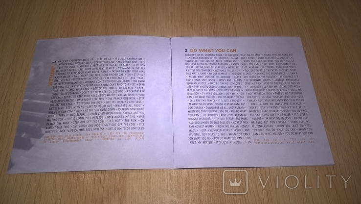 Bon Jovi (2020) 2020. (CD). Диск. Буклет 8 Страниц. Europe. S/S., фото №8