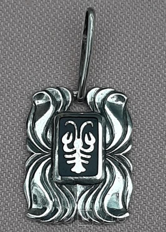 Подвеска серебряная Рак,916 пр.СССР, фото №2