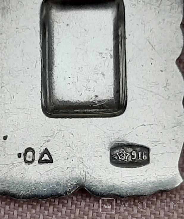 Подвеска серебряная Рак,916 пр.СССР, фото №4
