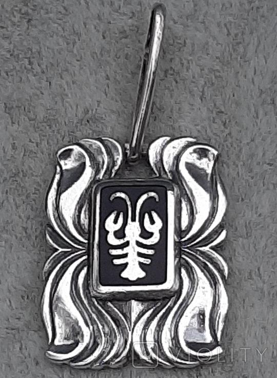Подвеска серебряная Рак,916 пр.СССР, фото №7