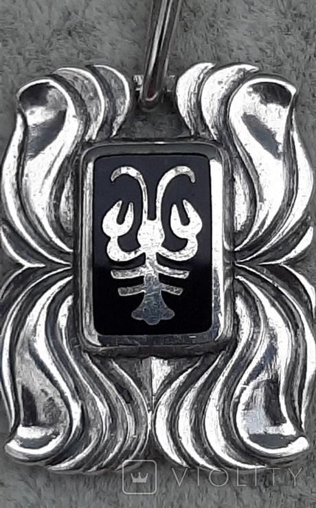 Подвеска серебряная Рак,916 пр.СССР, фото №8