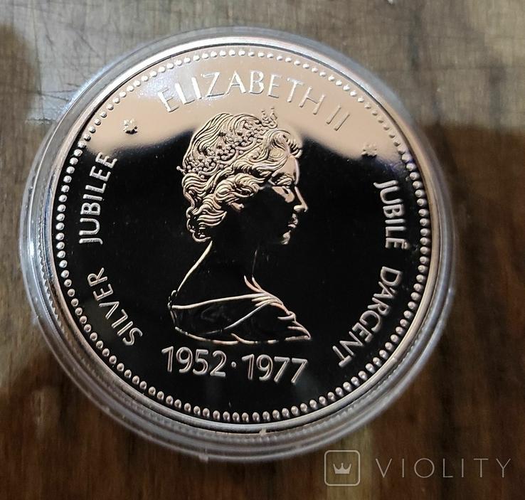 Канада 1 доллар 1977 г. Серебро. Серебряный юбилей правления Королевы Елизаветы II, фото №3