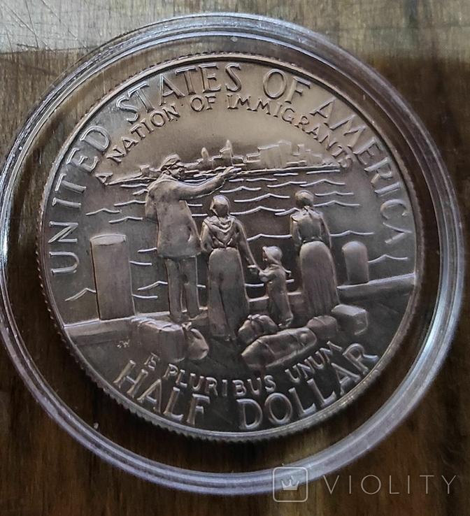 США 50 центов 1986 г Статуя Свободы., фото №3