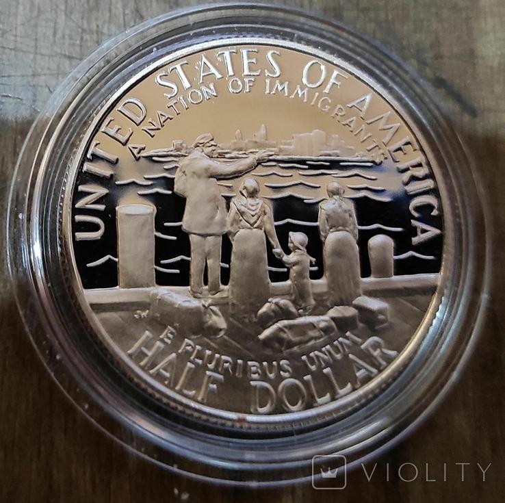 США 50 центов 1986 г Статуя Свободы. Пруф, фото №3