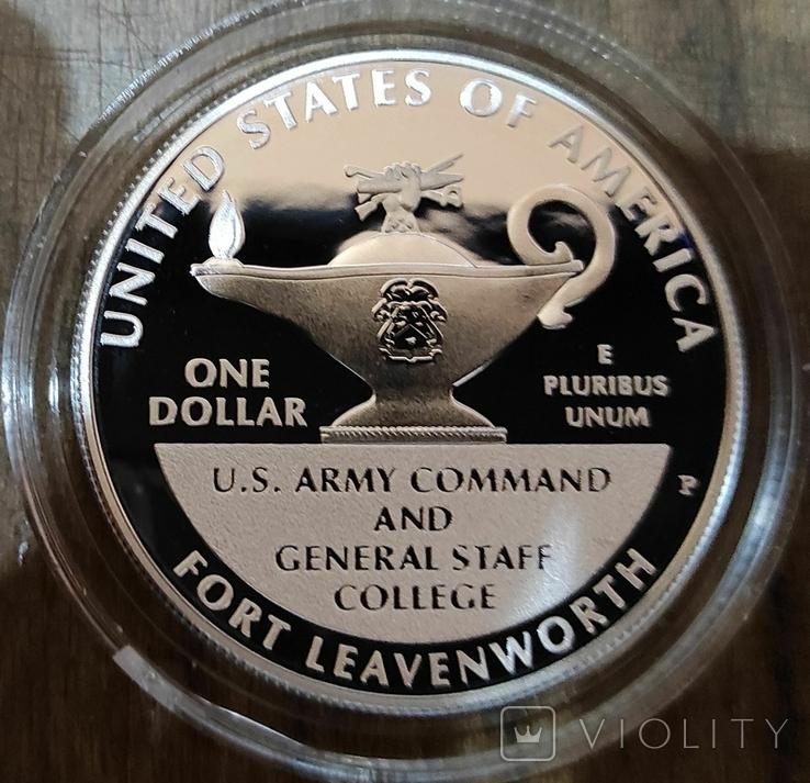 США 1 доллар 2013 г. Генералы Армии США. Маршалл, Эйзенхауэр. Серебро. Пруф, фото №3