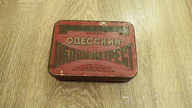 Жестяная коробка.Одесский Облпищетрест.Наркомместпром УССР, фото №3