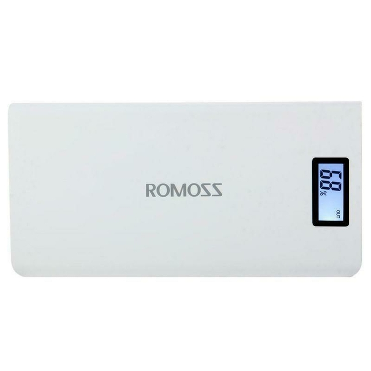 Power Bank Romoss LCD 50000mAh Sense 6 PLUS 2USB, повербанк с экраном, фото №4