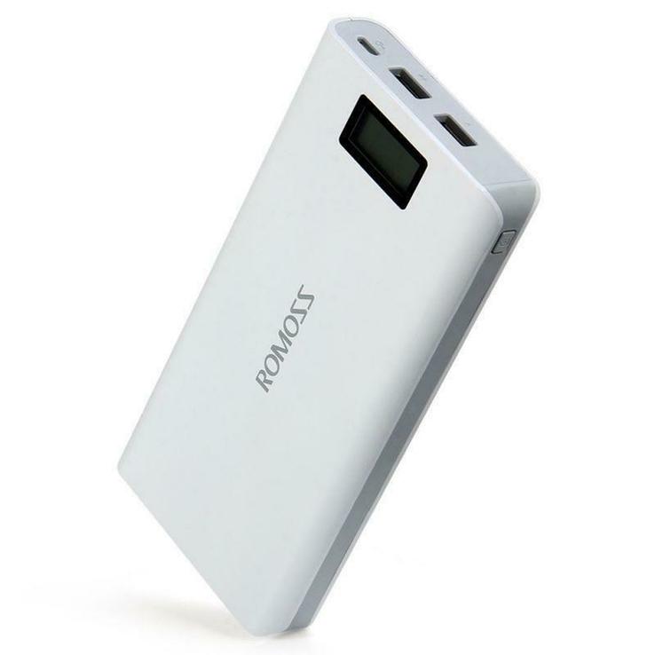 Power Bank Romoss LCD 50000mAh Sense 6 PLUS 2USB, повербанк с экраном, фото №2