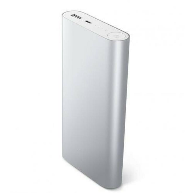Повер банк Xiaomi 20800 mAh Аккумулятор СЕРЕБРО., фото №4