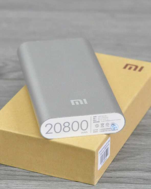 Повер банк Xiaomi 20800 mAh Аккумулятор СЕРЕБРО., фото №2