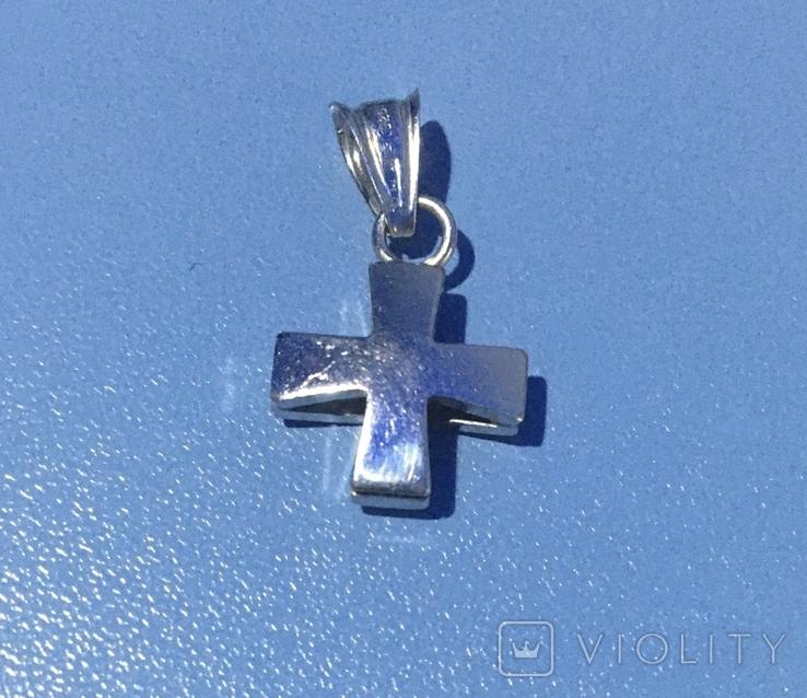 Серебрянный крестик 925 пробы, фото №2