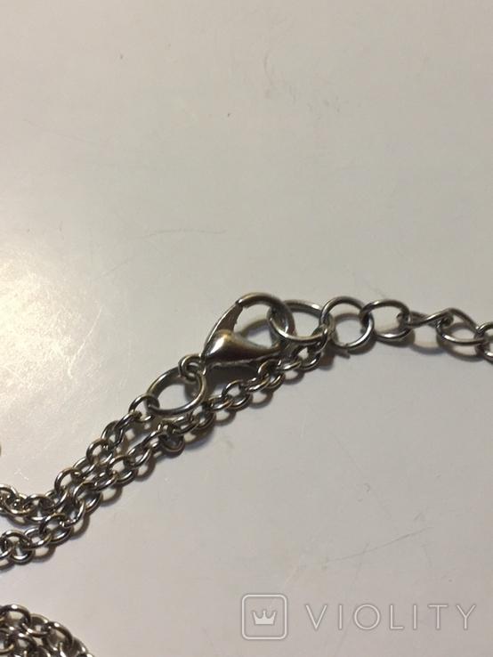 Кулон цепочка агат позолота, фото №6