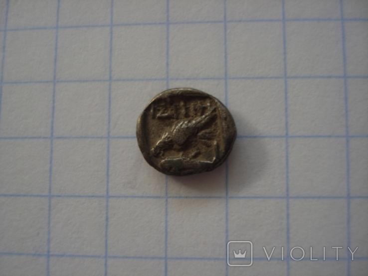 Истрия. Тритартеморион. Вес 0,47 грамма, фото №3