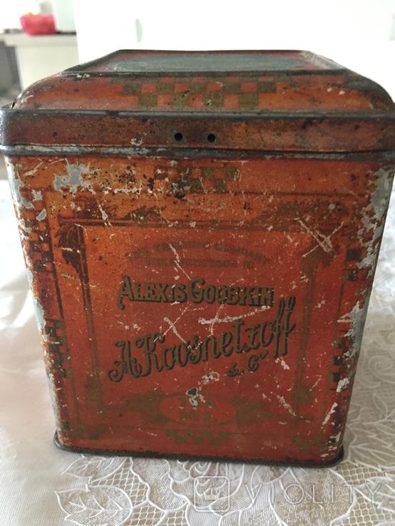 Царська коробка для чаю Кузнецовь (Якоря), фото №4
