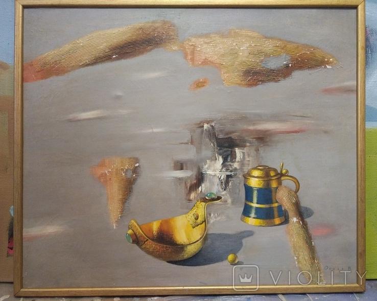 "Осада В.""Натюрморт"" из серии ""Русское золото"", х.м.50*60см, фото №7"