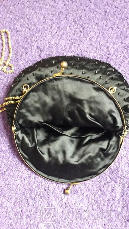 Сумочка з чорним бісером, фото №6