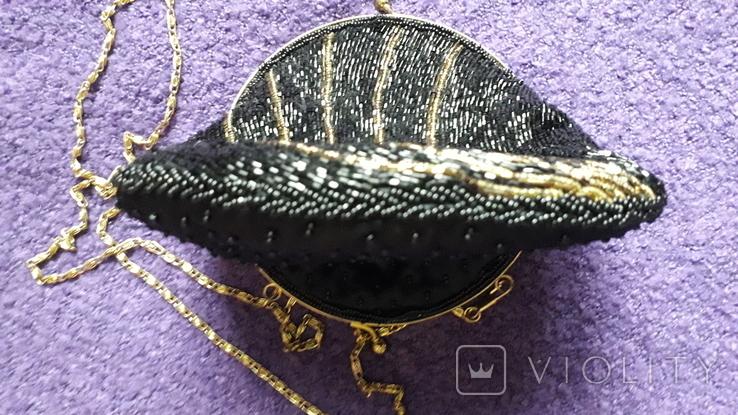 Сумочка з чорним бісером, фото №8